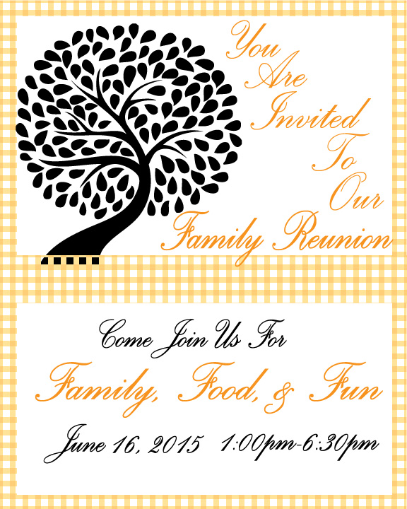 family reunion invitation friends of first living museum